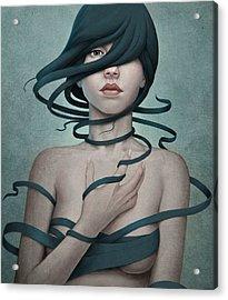 Twisted Acrylic Print by Diego Fernandez