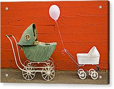 Two Baby Buggies  Acrylic Print by Garry Gay