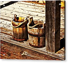 Two Buckets Acrylic Print by Marty Koch