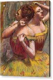 Two Dancers Acrylic Print by Edgar Degas