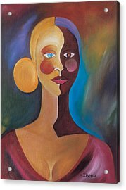 Two Faces Of Eve Acrylic Print by Ikahl Beckford