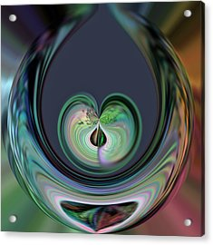 Two Hearts Beat As One Acrylic Print by Rick Nickles