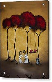 Two Hearts Acrylic Print by Charlene Zatloukal