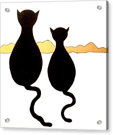 Two Kitties Acrylic Print by Beth Akerman