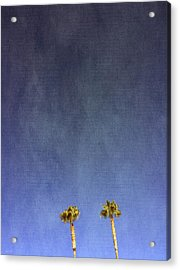 Two Palm Trees- Art By Linda Woods Acrylic Print by Linda Woods