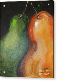 Two Pears Acrylic Print by Jolanta Anna Karolska