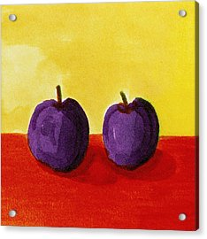 Two Plums Acrylic Print by Michelle Calkins