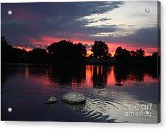 Two Rocks Sunset In Prosser Acrylic Print by Carol Groenen