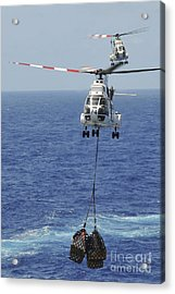 Two Sa-330 Puma Helicopters Deliver Acrylic Print by Stocktrek Images