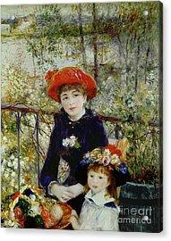Two Sisters Acrylic Print by Pierre Auguste Renoir