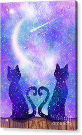 Two Wishing On A Star Acrylic Print by Nick Gustafson