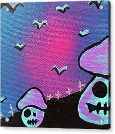 Two Zombie Mushrooms Acrylic Print by Jera Sky
