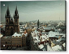 Tyn Church, Prague Acrylic Print by Erik T Witsoe