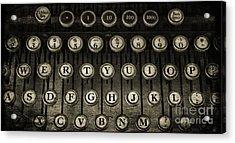 Typewriter Keys 2 Acrylic Print by Cindi Ressler