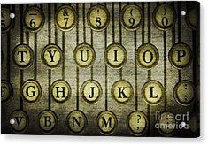 Typewriter Keys Acrylic Print by Cindi Ressler