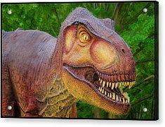 Tyrannosaurus Dinosaur Acrylic Print by LeeAnn McLaneGoetz McLaneGoetzStudioLLCcom