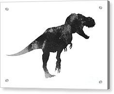 Tyrannosaurus Figurine Watercolor Painting Acrylic Print by Joanna Szmerdt