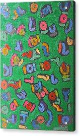 Color Order No. 20 Oil On Canvas 24 X 36 2011 Acrylic Print by Radoslaw Zipper
