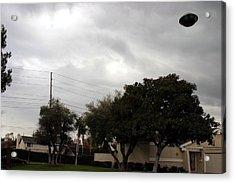 Ufo Over My Neighborhood  Acrylic Print by Michael Ledray
