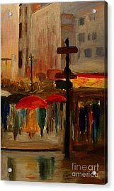 Umbrella Day Acrylic Print by Julie Lueders