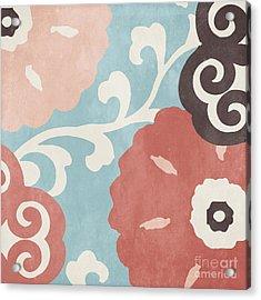 Umbrella Skies I Suzani Pattern Acrylic Print by Mindy Sommers