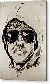 Unabomber Ted Kaczynski Police Sketch 2 Acrylic Print by Tony Rubino