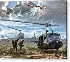 Uncommon Valor Acrylic Print by Peter Chilelli