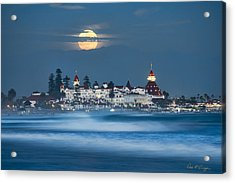 Under The Blue Moon Acrylic Print by Dan McGeorge