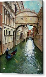 Under The Bridge Of Sighs Acrylic Print by Jeff Kolker