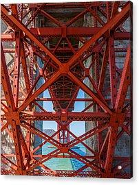 Under The Golden Gate Bridge Acrylic Print by Sarit Sotangkur