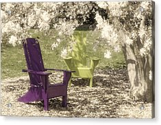 Under The Magnolia Tree Acrylic Print by Tom Mc Nemar