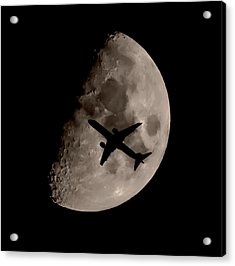 Under The Moons Shadow Acrylic Print by Martin Newman