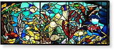 Under The Sea - Stained Glass Acrylic Print by Bill Cannon
