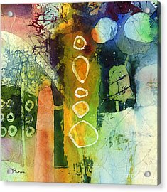 Under The Surface - Green Acrylic Print by Hailey E Herrera