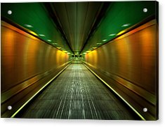 Underground Heathrow Acrylic Print by Svetlana Sewell