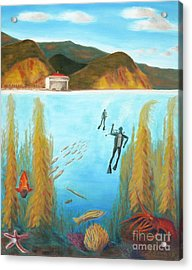 Underwater Catalina Acrylic Print by Nicolas Nomicos