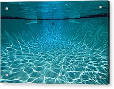 Underwater View In A Swimming Pool Acrylic Print by Tim Laman
