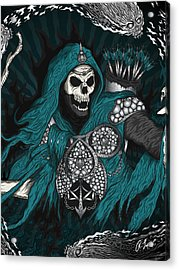 Acrylic Print featuring the drawing Underworld Archer Of Death by Raphael Lopez