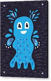 Undiscovered Blue Cute Sea Creature Acrylic Print by Boriana Giormova