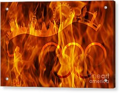 undying Olympic flame Acrylic Print by Michal Boubin