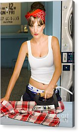 Unhappy Housewife Acrylic Print by Jorgo Photography - Wall Art Gallery