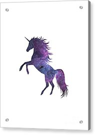 Unicorn In Space-transparent Background Acrylic Print by Jacob Kuch