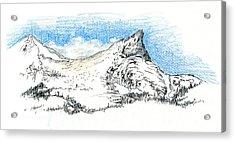 Unicorn Peak In September Acrylic Print by Logan Parsons