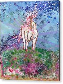 Unicorn Tears Acrylic Print by Kimberly Santini