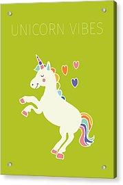 Unicorn Vibes Acrylic Print by Nicole Wilson