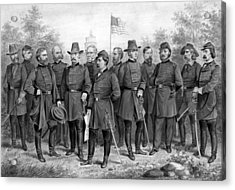 Union Generals Of The Civil War  Acrylic Print by War Is Hell Store
