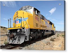 Union Pacific Locomotive Train - 5d18640 Acrylic Print by Wingsdomain Art and Photography