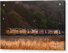 Union Pacific Locomotive Trains . 7d10551 Acrylic Print by Wingsdomain Art and Photography
