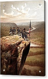 Union Soldiers On Lookout Mountain Acrylic Print by War Is Hell Store
