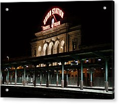 Union Station Denver Colorado Acrylic Print by Ken Smith